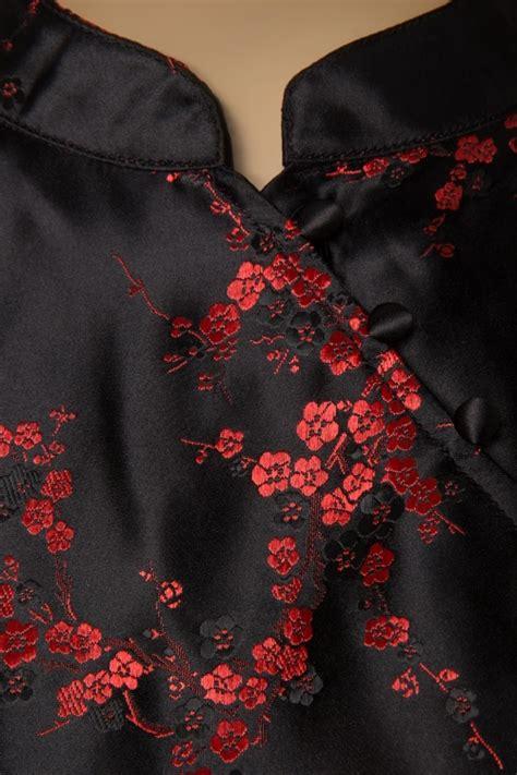 oriental swing 50s juliette oriental swing dress in black
