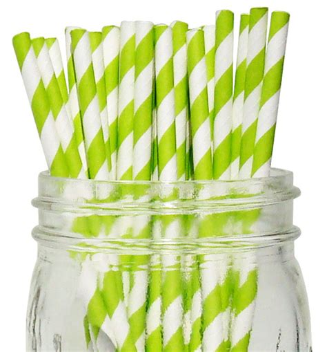 Termurah Balon Dove 100 Pcs Balon Dove 100 Pcs striped paper straws 100pcs kiwi green
