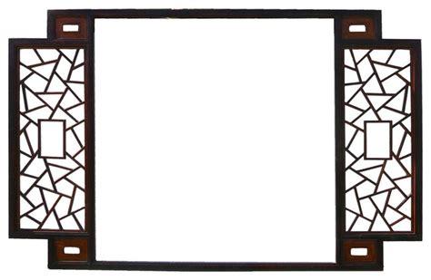 trellis pattern frame chinese two brown tone lattice pattern wall panel frame