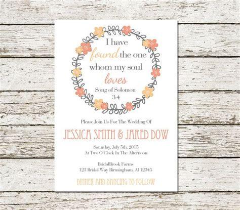 wedding invitation bible verse bible verse printable song of solomon wedding invitation