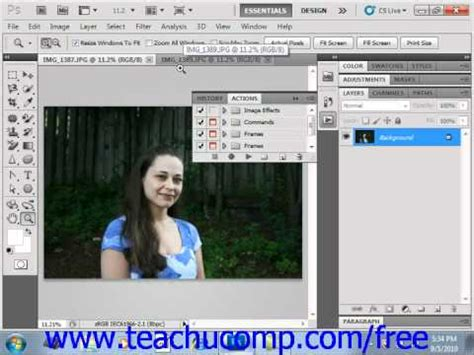 photoshop cs5 complete tutorial photoshop cs5 tutorial actions the actions panel adobe