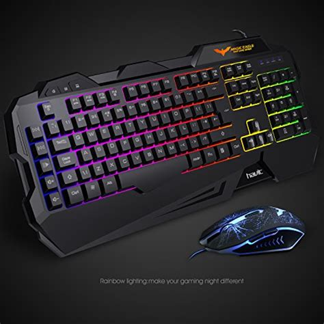 Keyboard Multimedia Havit Eight Gaming Buttons gaming keyboard uk layout havit rainbow led backlit wired keyboard and mouse ebay