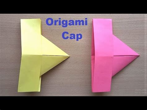 Origami Cap - amazing origami paper hat how to make paper cap at