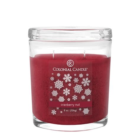 Colonial Candle Cranberry Nut 8 Oz Oval Jar Colonial Candle