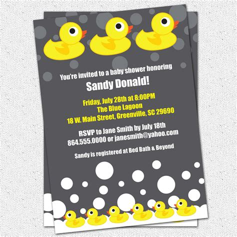 baby duck shower invitations free printables baby shower invitation printable rubber duck ducky duckie