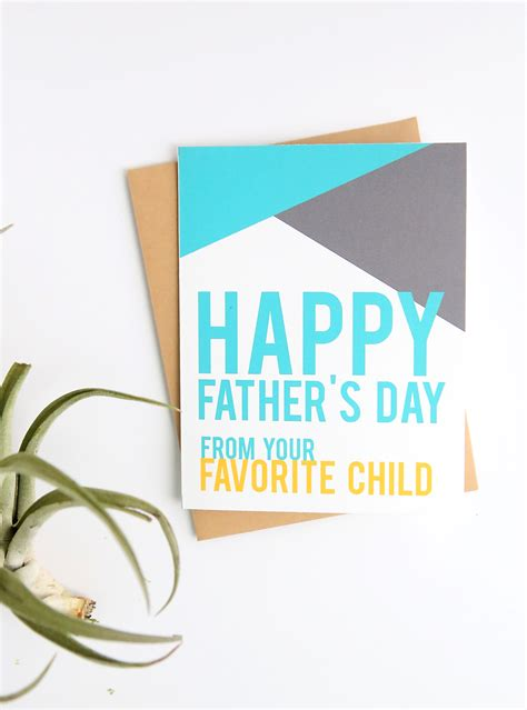 Printable Fathers Day Cards For In