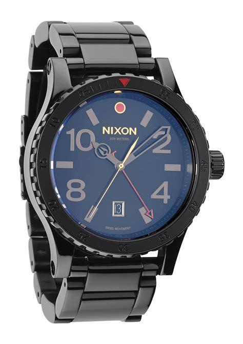 Nixon A277000 Diplomat Ss Black nixon diplomat ss watchall black polished gold