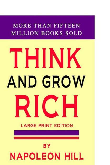 Think Grow Rich From Smartercomics think and grow rich large print edition by napoleon hill paperback barnes noble 174