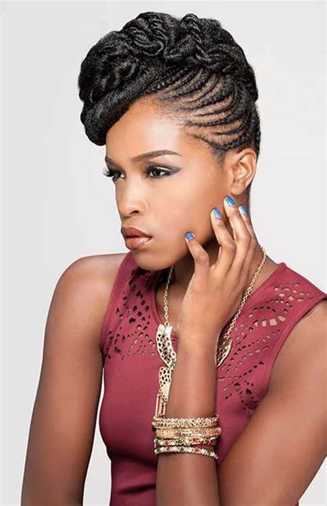 nigerian unique plaiting lines natural black updo hairstyles for women hairstylesco
