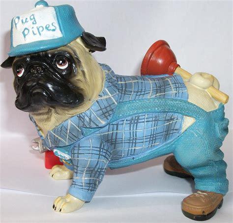 pugnacious pug figurines pugnacious pug pipes plumber builder handyman figure ornament figurine gift ebay