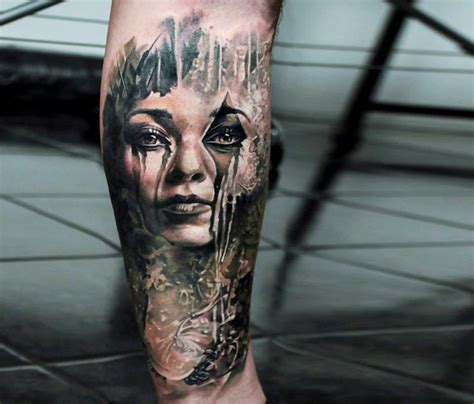 photo realism tattoo artist florida horror face tattoo by led coult tattoos tattoo ideas