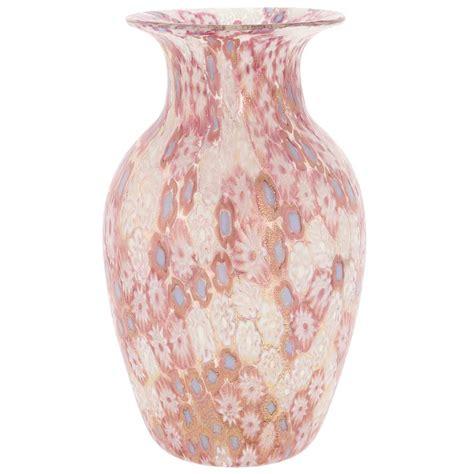 millefiori vase murano glass vases golden quilt millefiori urn vase pink