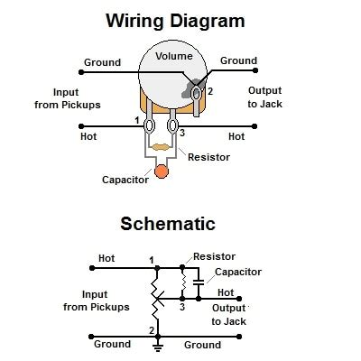 Volume Treble Bleed Bypass Circuit W Parallel Resistor