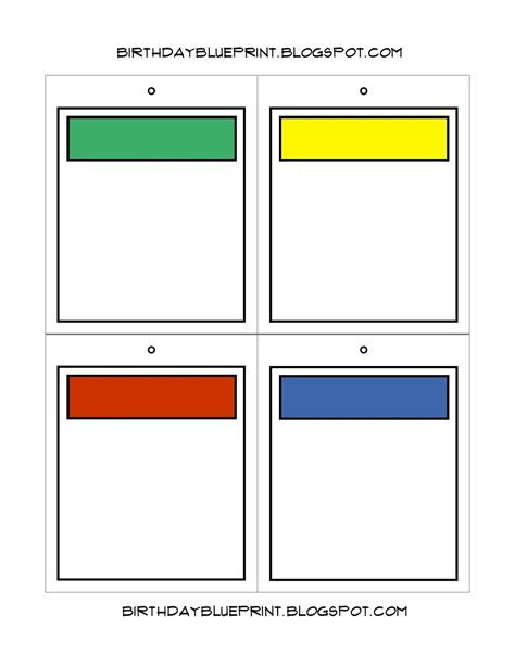 blank monopoly property cards template birthday blueprint board