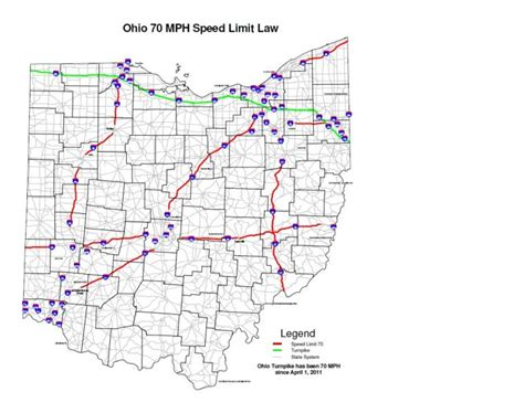 map of ohio turnpike wksu news speed limit set at 70 mph on some ohio interstates