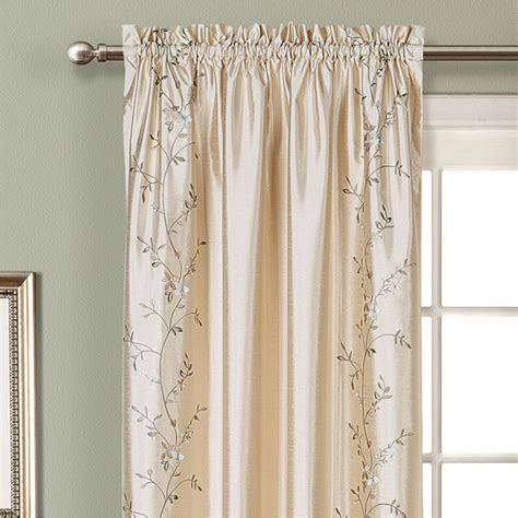 addison curtains addison embroidered floral faux silk window treatment