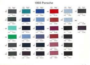 Porsche Paint Colors 1993 Porsche Paint Color Sle Chips Card Oem Colors Ebay