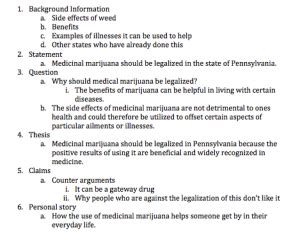 Legalization Of Marijuana Essay Outline by Rcl1314 Annabel S Rcl