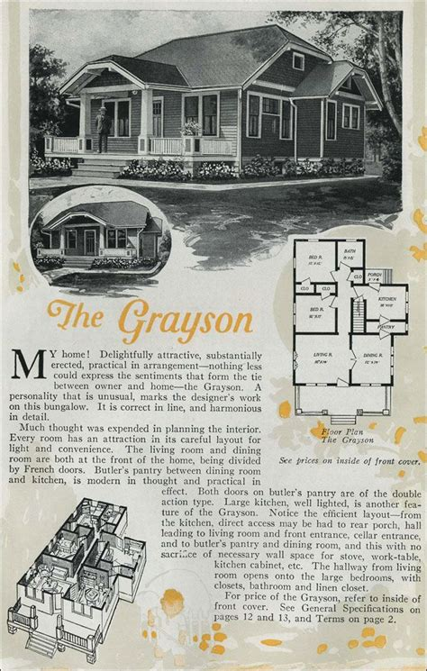 tiny house plan clipped gabled cottage aladdin kit the grayson is a charming clipped gable bungalow cottage