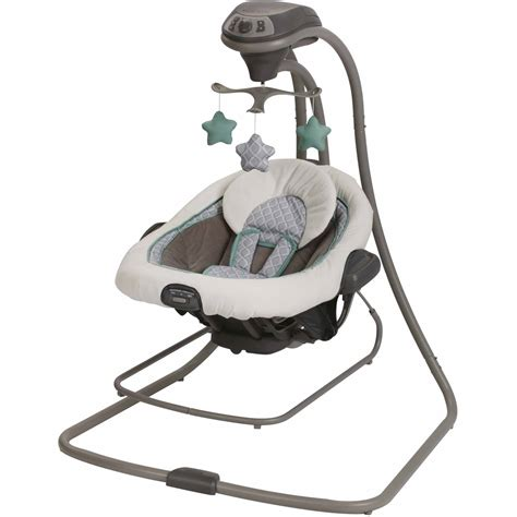 baby swings for boys graco duetconnect lx swing and bouncer manor walmart com