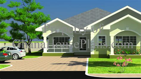 One Story Four Bedroom House Plans ghana house plans cece house plan
