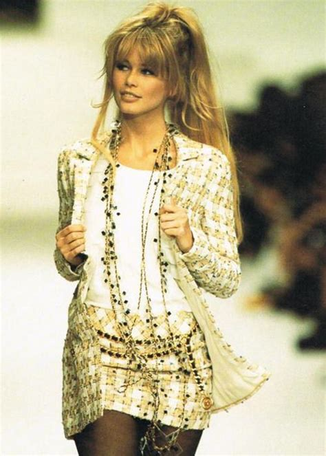 Catwalk To Carpet Schiffer In Chanel by Schiffer On A Chanel Runway In The Nineties It