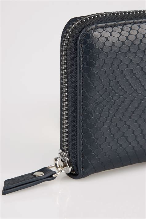 Finish Line Gift Card Codes - navy textured snakeskin effect small zip around purse