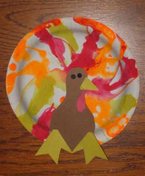 Paper Plate Pilgrim Craft - paper plate turkey thanksgiving preschool craft