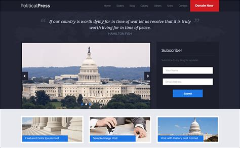 free bootstrap templates for government political bootstrap themes templates free premium