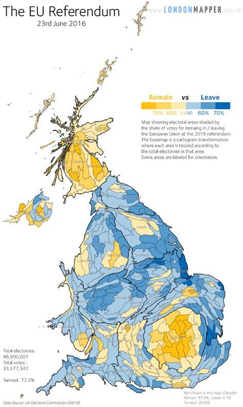 map uk eu referendum the eu referendum londonmapper