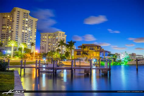 Boca Raton Property Records Waterfront Property At Boca Raton Lake Blvd Royal Stock Photo