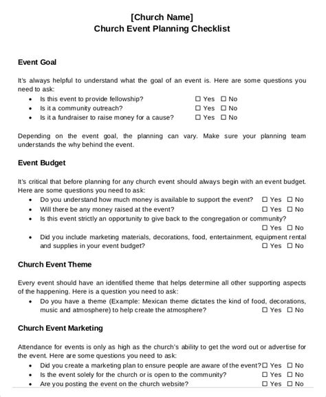 Church Event Planning Checklist Template Event Planning Checklist 11 Free Word Pdf Documents Download Free Premium Templates