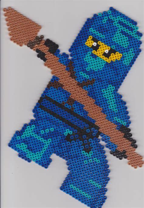 ninjago pattern b 252 gelperlen ninjago jay vorlage perler beads hama