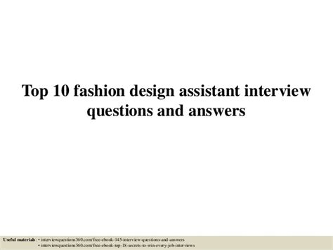 Fashion Design Questions Answers | top 10 fashion design assistant interview questions and