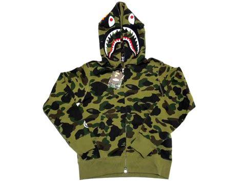 Hoodie Sweater Bape Shark Camo bape og camo shark hoodie green