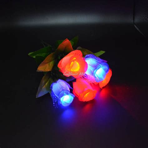 Led Roses Lights Up Mothers Day by 2017 Blinking Led Light Up Flower