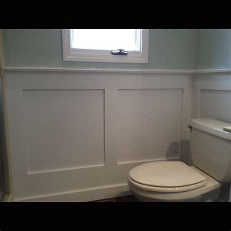 wainscot in bathroom mdf wainscoting in bathroom bathroom ideas pinterest