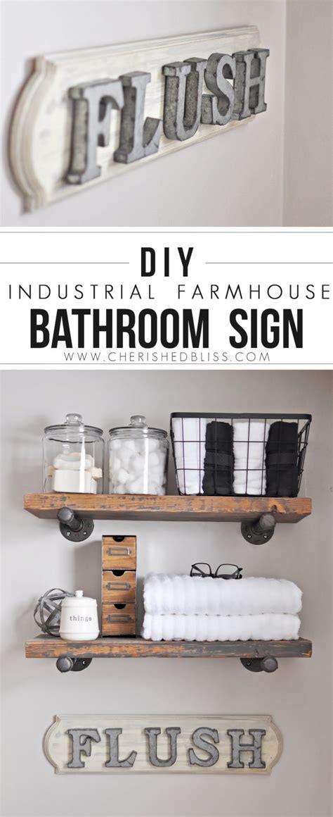 diy bathroom signs diy industrial farmhouse bathroom sign cherished bliss