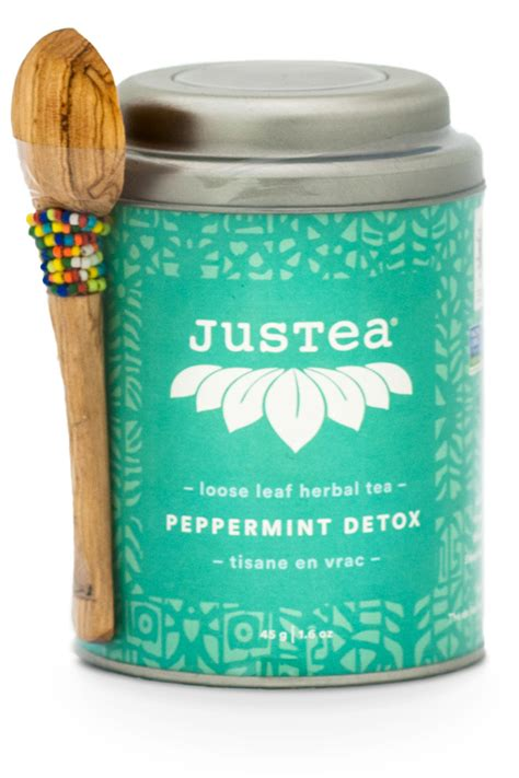 Does Peppermint Tea Detox You by Justea 174 Peppermint Detox Leaf Tea Tea