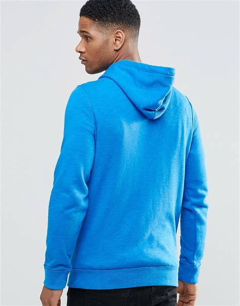 Hoodie Zipper Hollister Item hollister hollister zip through hoodie in blue slim fit at asos