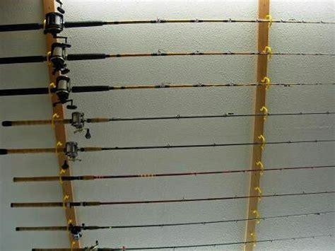 Fishing Rod Storage Garage by Hanging Fishing Poles 4 Garage