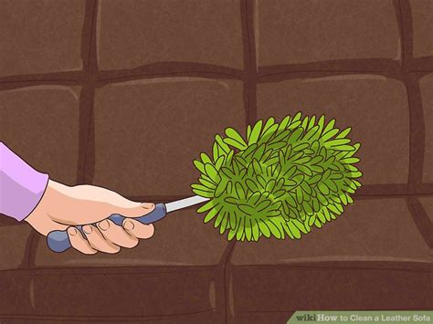 Leather Sofa Cleaning Products by 4 Ways To Clean A Leather Sofa Wikihow