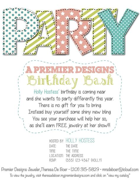 Premier Designs Jewelry Invitation Template