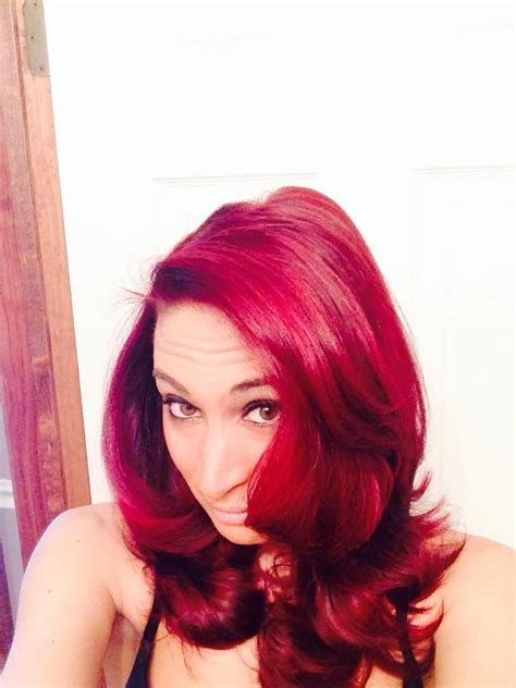 dying crimson obssession over black hair curly hair with splat crimson obsession short hair don