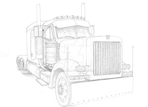 peterbilt semi truck coloring pages sketch coloring page image gallery peterbilt drawings