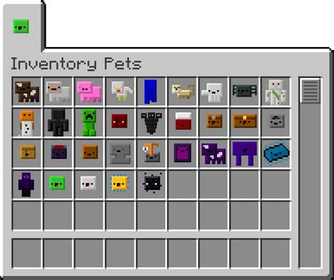 inventory pets mod  minecraft  minecraftsix