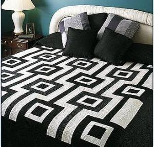 Black And White Patchwork Quilt - china patchwork quilt in black and white design 108002