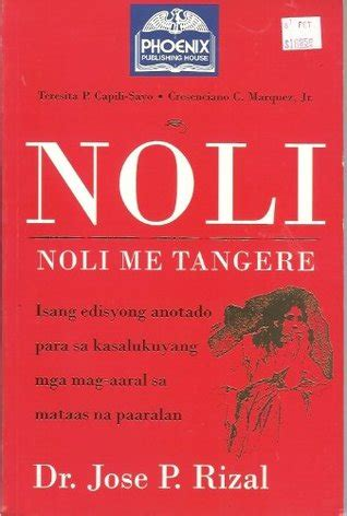 picture of noli me tangere book noli me tangere by cresenciano c marquez jr