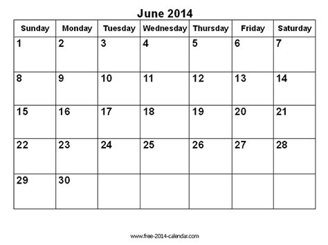 image gallery june 2014 calendar
