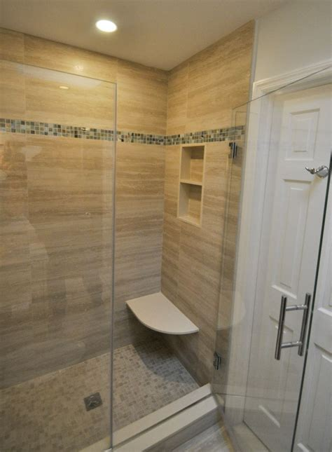 shower built in bench stand up shower with built in bench seat and niche